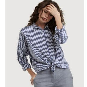 NWT Kit and Ace Studio Stretch Striped Button Down